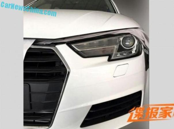 Spy Shots: 2016 Audi A4 seen partly naked in China