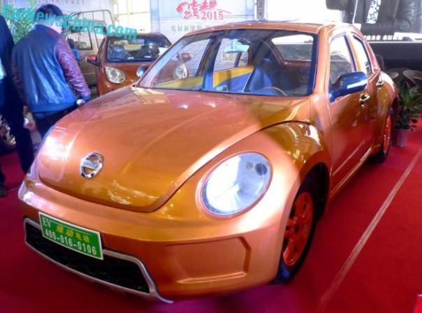 Shandong EV Expo in China: VIDEOEV does four doors to the Volkswagen Beetle