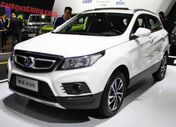 Beijing Auto Senova X55 hits the Shanghai Auto Show in China