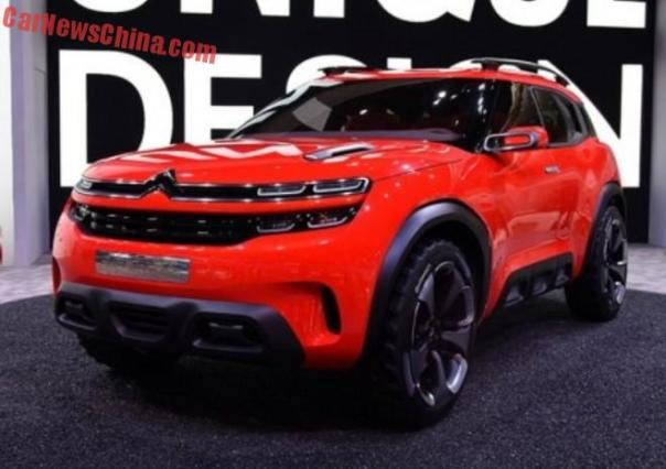Citroen Aircross concept debuts on the Shanghai Auto Show in China