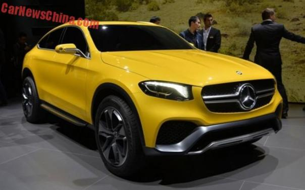 Mercedes-Benz Concept GLC Coupe debuts in China