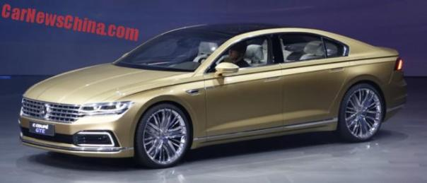 Volkswagen C Coupe GTE concept debuts on the Shanghai Auto Show in China