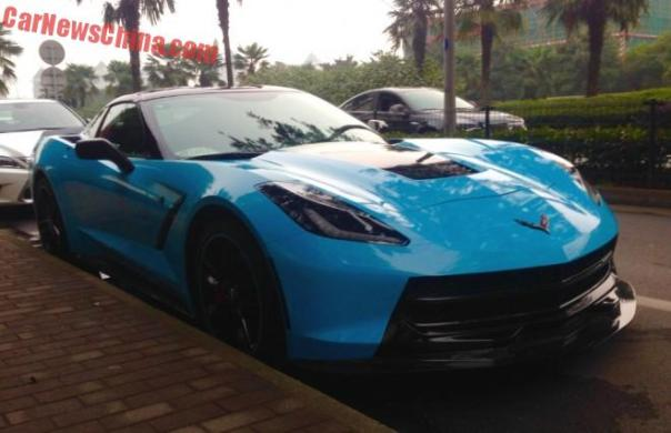 Chevrolet Corvette Stingray is Baby Blue in China