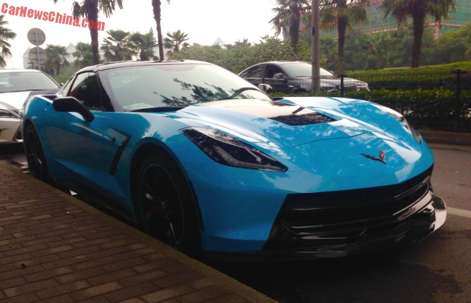 a very speedy chevrolet corvette stingray spotted in china in the great city of suzhou in jiangsu province by reader pinut 187 thank you for the pictures - Corvette 2015 Stingray Blue