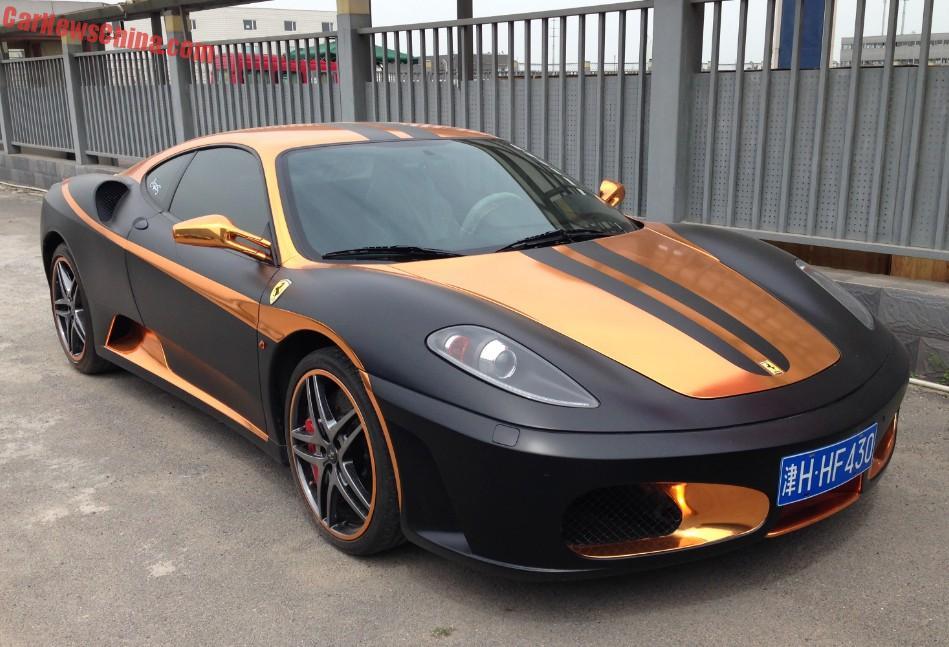 ferrari 2015 black. ferrari f430 is matte black u0026 gold in china 2015