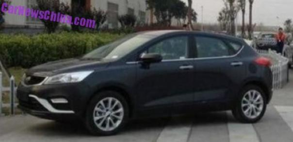 Spy Shots: Geely Emgrand Cross in Naked in China