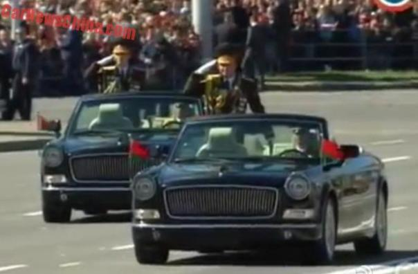 Hongqi L5 parade car debuts in the Belarus Victory Day Parade