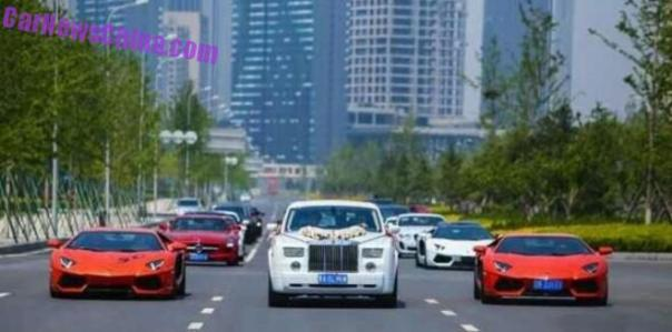 Supercar Wedding in Dalian, China