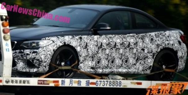 Spy Shots: 2016 BMW M2 looks speedy on a flatbed in China