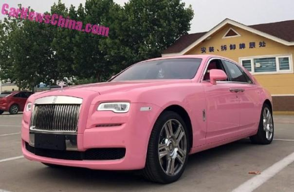Rolls-Royce Ghost is Pink in China