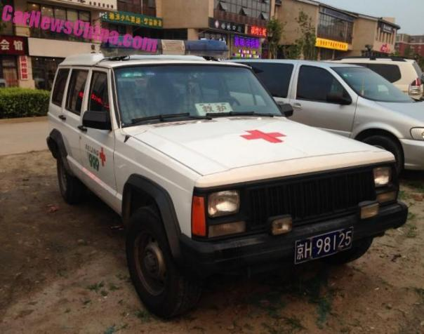 Spotted in China: Beijing-Jeep Cherokee emergency medical vehicle