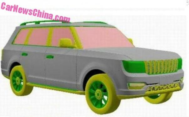 Patent Applied: the Hongqi LS5 SUV for China