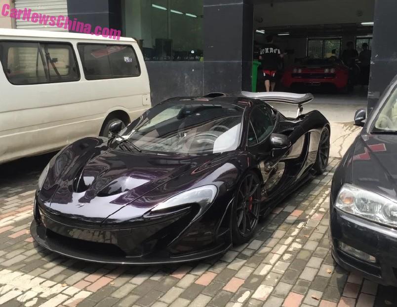 mclaren p1 purple. mclaren p1 supercar is black purple in china mclaren p