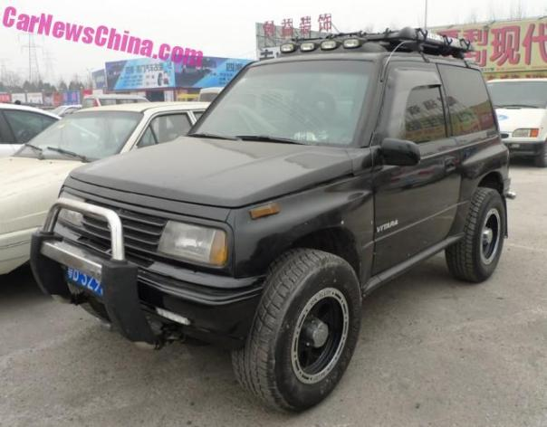 Spotted in China: Suzuki Vitara JXL in Black