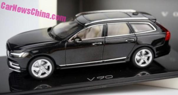 Volvo V90 leaked Completely in China in full 1:43 glory
