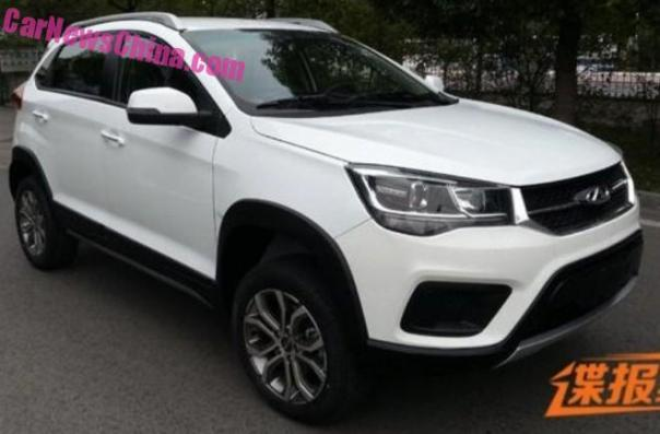 Spy Shots: the new  Chery Tiggo 3X SUV for China
