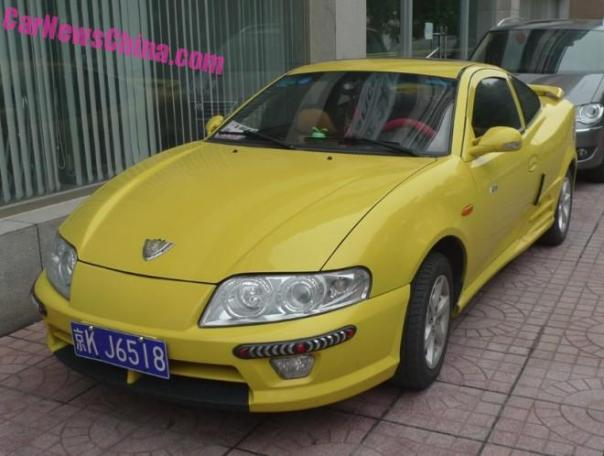 Spotted in China: the facelifted Geely Meirenbao in Yellow