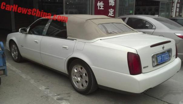 Spotted in China: Cadillac Deville four-door convertible