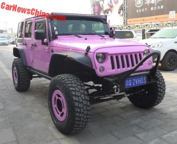 Jeep Wrangler is Pink in China