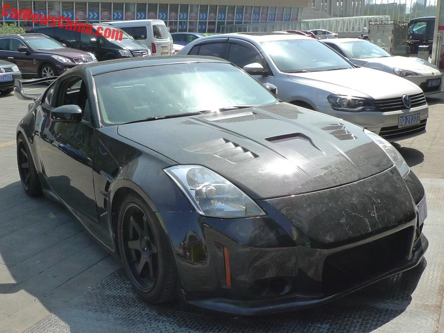 nissan 350z 2015 black. spotted in china nissan 350z drift car 350z 2015 black