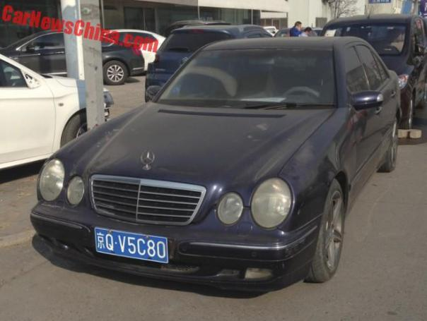 Second generation Mercedes-Benz E240 in Blue in China