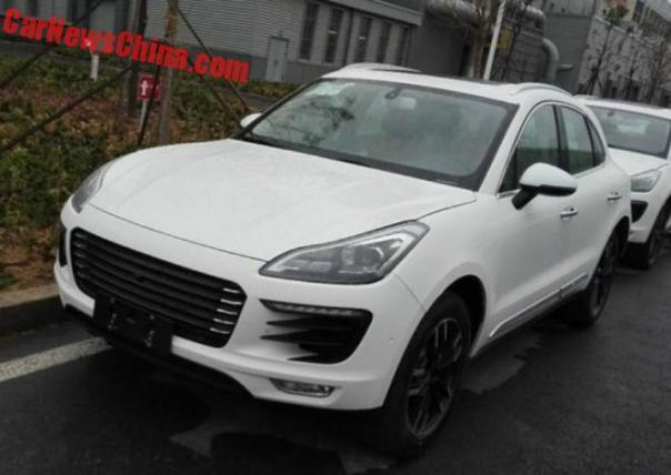 Zotye SR8 Porsche Macan clone is Naked in China
