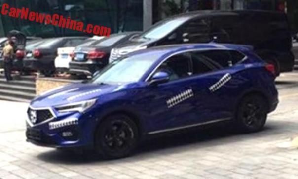 Spy Shots: Acura CDX Testing In China