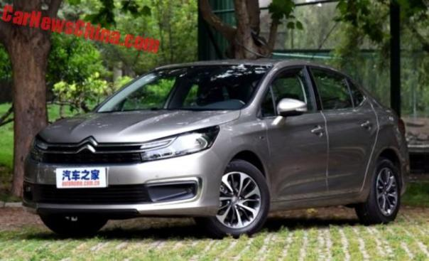 This Is The Facelifted Citroen C4L Sedan For China
