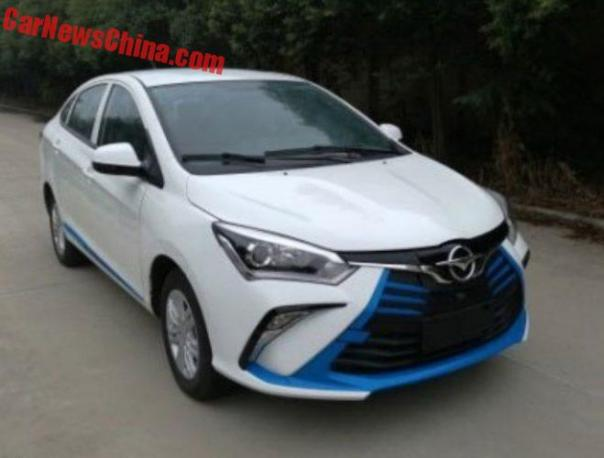 Haima Goes Grille Crazy With The New @3 EV Sedan