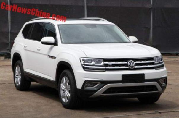 First Photos Of The Volkswagen Teramont V6 For China