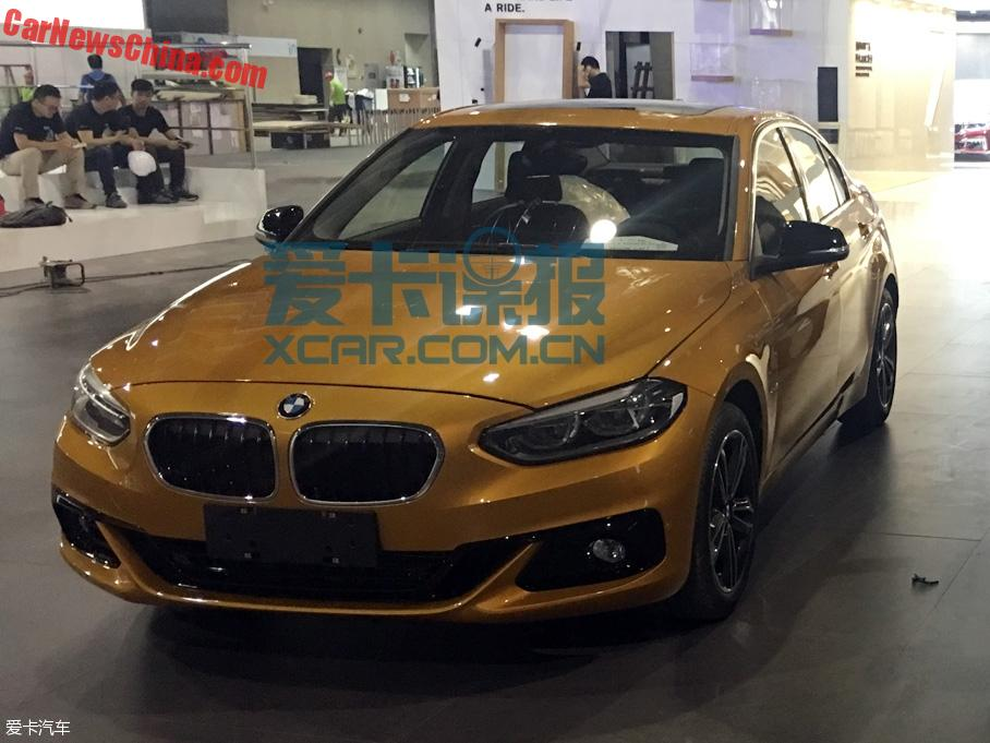 This Is The New BMW 1Series Sedan For China  CarNewsChinacom