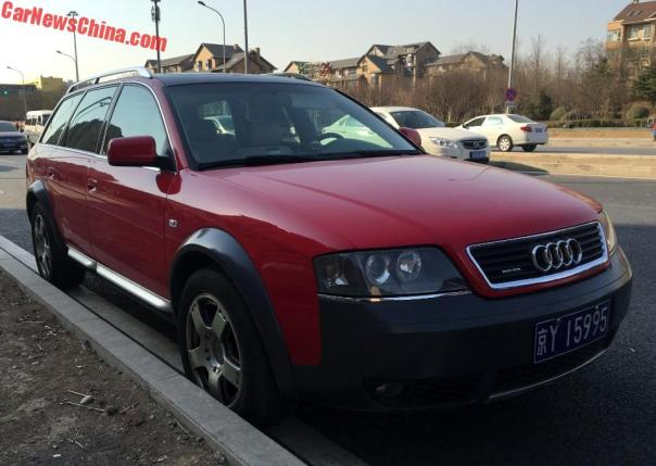 Spotted In China: C5 Audi A6 Allroad Quattro In Red