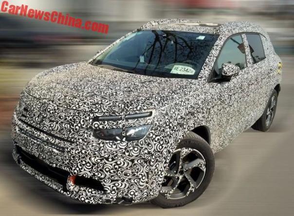 Spy Shots: Citroen C5 Aircross Seen Testing In China