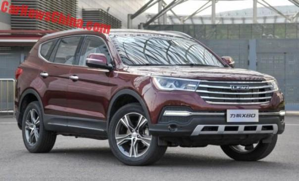 Lifan X80 SUV Launched On The Chinese Car Market