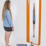 6' Funhouse Mirror Orange