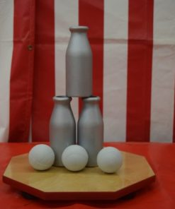 Aluminum Milk Bottle Toss Carnival Game