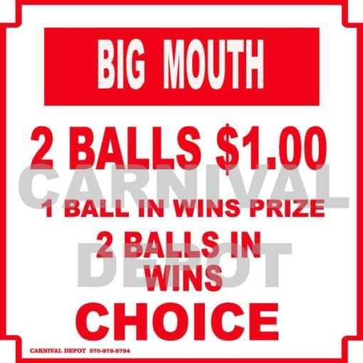 big mouth carnival sign