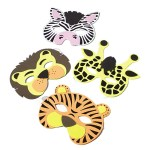 Wild Zoo Animal Foam Masks Carnival Prize