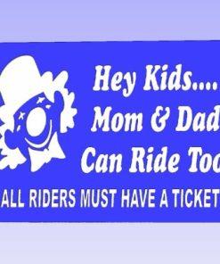Hey Kids Carnival Safety Sign