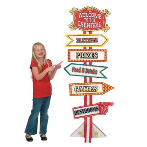 Big Top Directional Sign Cardboard Stand-Up