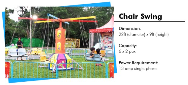 Chair Swing Carnival Ride Rental