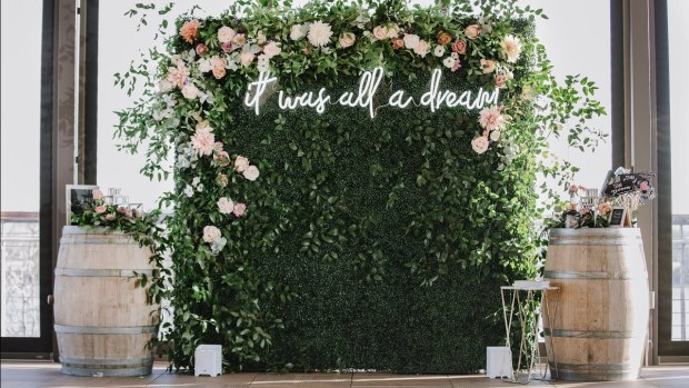 Grass wall rental for events