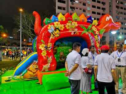 Red Dino Cheap Bouncy Castle Singapore