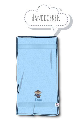 Handdoek met Naam en Geborduurd Figuurtje