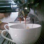 Extraccion de espressos para cappuccinos