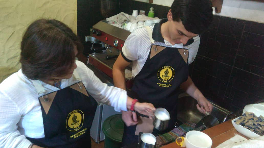 Cafe Barista Coffeeshop