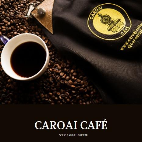 Delantal de Caroai Café sobre café en grano