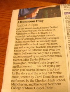 The Times review of Carol Donaldson composer for radio play