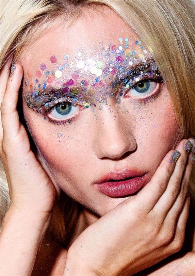 maquiagem com glitter para o carnavall