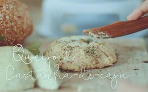 receita vegana de queijo de castanhas